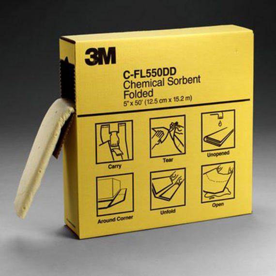 ABSORBENTE PLEGADO PARA QUIMICOS C-FL550DD DE 3M